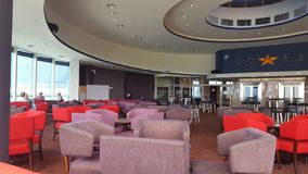 Lounge room and bar of the Twin Towns Club, Tweed Heads, New South Wales royalty free stock photography