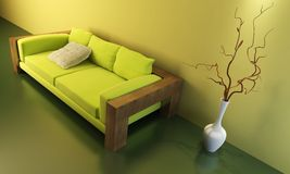Lounge room with couch Royalty Free Stock Image
