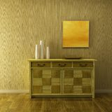 Lounge room with cupboard Royalty Free Stock Photography