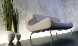 Lounge room with floorlight stock illustration