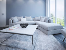 Lounge room scandinavian style Royalty Free Stock Photos