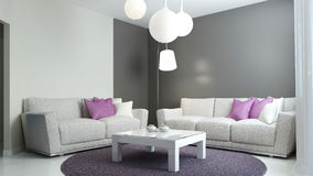 Lounge room in scandinavian style Royalty Free Stock Images