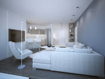 Lounge room techno style Royalty Free Stock Images