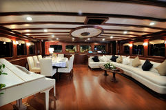 Lounge of sailboat Royalty Free Stock Photography