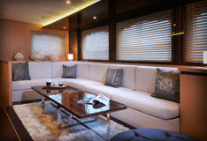 Lounge of sailboat Royalty Free Stock Image