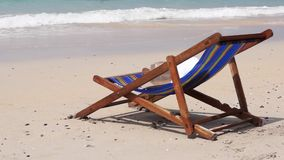 Lounge on the sea beach of Thailand stock video footage