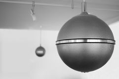 Lounge Sound. Globe speaker in seventies lounge style Stock Photography