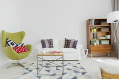 Lounge space of a contemporary stylish apartment Stock Image