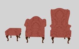 Lounge stools pink Stock Photo