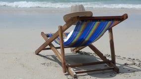Lounge on the tropical sea beach stock video