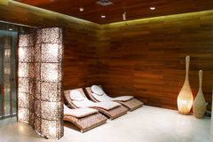 Lounge zone  in spa Stock Photos