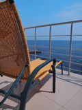 Lounger on the balcony Royalty Free Stock Images