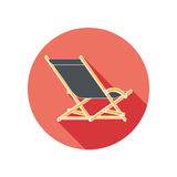 Lounger Beach Sunbed Chair flat icon Stock Images