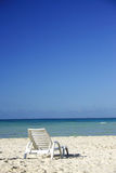Lounger da praia foto de stock royalty free