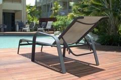 Lounger del Poolside Fotografia Stock