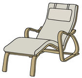 Lounger. Hand drawing of a relaxing armchair Royalty Free Stock Photo