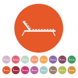 The lounger icon. Sunbed symbol. Flat Stock Images