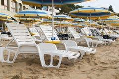 Lounger parasol Royalty Free Stock Photo