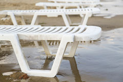 Lounger parasol Stock Images