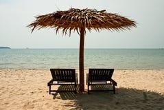 Салоны фаэтона на пляже Стоковое Изображение
