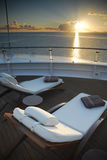 Loungers Солнця туристического судна Стоковые Изображения RF