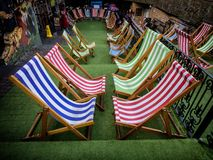Loungers in Camden Market in London. UK Royalty Free Stock Photography