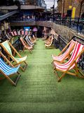 Loungers in Camden Market in London Stock Photography
