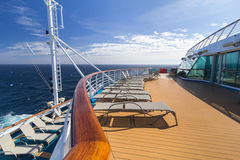 Loungers on cruise ship Royalty Free Stock Images