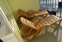 Loungers de Sun Fotografia de Stock Royalty Free