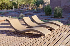 Loungers on the Patio Royalty Free Stock Images