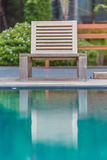 Loungers by the pool royalty free stock image