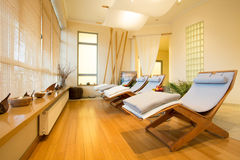 Loungers in spa room Stock Photography