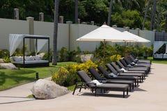 loungersett slags solskyddsun Royaltyfri Foto
