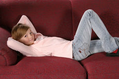 Lounging Stock Photo