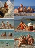 Lounging autour des vacances d'été Images libres de droits