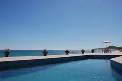 lounging basen Fotografia Royalty Free