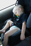 Lounging in the Car Seat Stock Photo