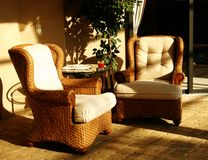 Lounging Chairs in Sunshine Royalty Free Stock Image