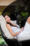 Lounging Outdoors Royalty Free Stock Photos