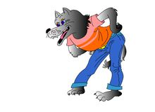 Loup. Image stock