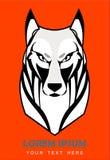 Loup blanc fâché, costaud, chien, canin illustration libre de droits