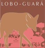 Loup brésilien Photographie stock libre de droits