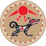 Loup - coyote - type de Natif américain illustration stock
