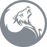 Loup d'hurlement Photos libres de droits