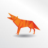 Loup d'origami Photo stock