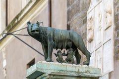 Loup de Capitoline, Rome Images stock