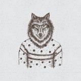 Loup de hippie habillé dans le chemisier Photo libre de droits