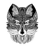 Loup de Zentangl Photos libres de droits