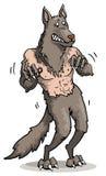 Loup-garou effrayé illustration de vecteur