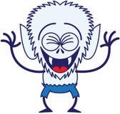 Loup-garou frais de Halloween riant avec enthousiasme Photos libres de droits